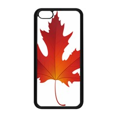 Autumn Maple Leaf Clip Art Apple Iphone 5c Seamless Case (black)