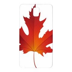Autumn Maple Leaf Clip Art Samsung Galaxy Note 3 N9005 Hardshell Back Case by BangZart