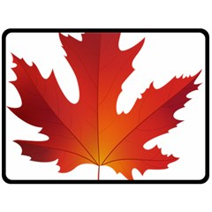 Autumn Maple Leaf Clip Art Double Sided Fleece Blanket (large)  by BangZart