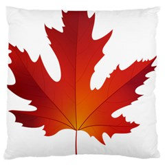 Autumn Maple Leaf Clip Art Large Flano Cushion Case (two Sides) by BangZart