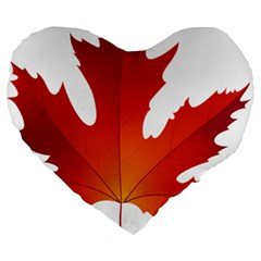 Autumn Maple Leaf Clip Art Large 19  Premium Flano Heart Shape Cushions by BangZart
