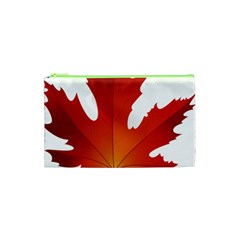 Autumn Maple Leaf Clip Art Cosmetic Bag (xs) by BangZart