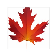 Autumn Maple Leaf Clip Art Small Satin Scarf (square)