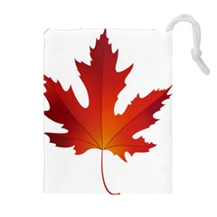 Autumn Maple Leaf Clip Art Drawstring Pouches (extra Large) by BangZart