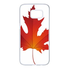 Autumn Maple Leaf Clip Art Samsung Galaxy S7 Edge White Seamless Case