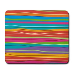 Colorful Horizontal Lines Background Large Mousepads by TastefulDesigns