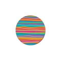 Colorful Horizontal Lines Background Golf Ball Marker (4 Pack) by TastefulDesigns