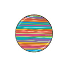 Colorful Horizontal Lines Background Hat Clip Ball Marker by TastefulDesigns