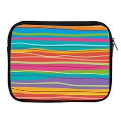 Colorful Horizontal Lines Background Apple Ipad 2/3/4 Zipper Cases by TastefulDesigns