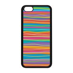 Colorful Horizontal Lines Background Apple Iphone 5c Seamless Case (black) by TastefulDesigns