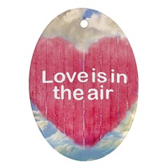 Love Concept Poster Design Ornament (oval) by dflcprints