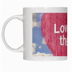 Love Concept Poster Design White Mugs by dflcprints