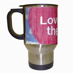 Love Concept Poster Design Travel Mugs (white) by dflcprints