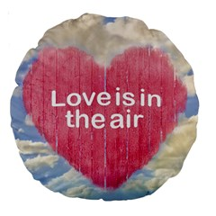 Love Concept Poster Design Large 18  Premium Round Cushions by dflcprints