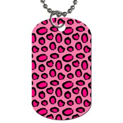 Cute Pink Animal Pattern Background Dog Tag (two Sides) by TastefulDesigns