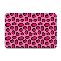 Cute Pink Animal Pattern Background Small Doormat  by TastefulDesigns