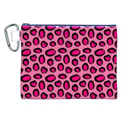 Cute Pink Animal Pattern Background Canvas Cosmetic Bag (xxl) by TastefulDesigns
