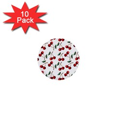 Cherry Red 1  Mini Buttons (10 Pack)  by Kathrinlegg