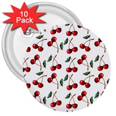 Cherry Red 3  Buttons (10 Pack)  by Kathrinlegg
