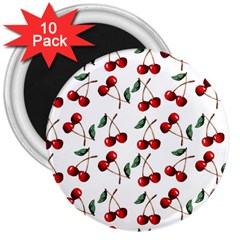 Cherry Red 3  Magnets (10 Pack)  by Kathrinlegg