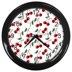 Cherry Red Wall Clocks (black) by Kathrinlegg