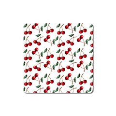 Cherry Red Square Magnet by Kathrinlegg