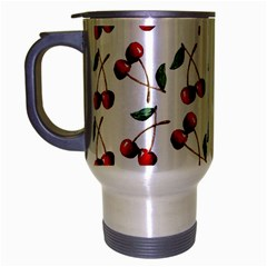 Cherry Red Travel Mug (silver Gray) by Kathrinlegg