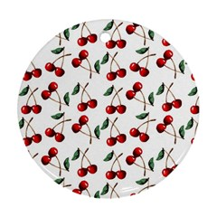 Cherry Red Round Ornament (two Sides) by Kathrinlegg