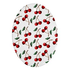 Cherry Red Oval Ornament (two Sides) by Kathrinlegg