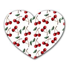 Cherry Red Heart Mousepads by Kathrinlegg