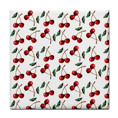 Cherry Red Face Towel by Kathrinlegg
