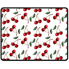 Cherry Red Fleece Blanket (medium)  by Kathrinlegg