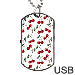 Cherry Red Dog Tag Usb Flash (two Sides) by Kathrinlegg