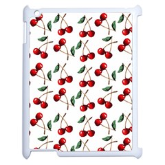 Cherry Red Apple Ipad 2 Case (white) by Kathrinlegg