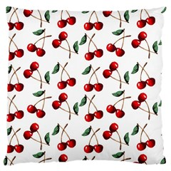 Cherry Red Large Cushion Case (two Sides) by Kathrinlegg