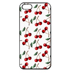 Cherry Red Apple Iphone 5 Seamless Case (black) by Kathrinlegg