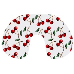 Cherry Red Travel Neck Pillows by Kathrinlegg