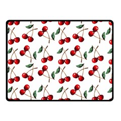 Cherry Red Double Sided Fleece Blanket (small)  by Kathrinlegg