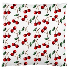 Cherry Red Standard Flano Cushion Case (two Sides) by Kathrinlegg