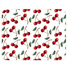 Cherry Red Double Sided Flano Blanket (medium)  by Kathrinlegg
