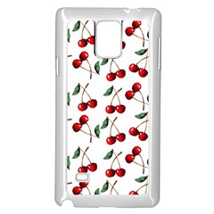 Cherry Red Samsung Galaxy Note 4 Case (white) by Kathrinlegg