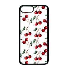 Cherry Red Apple Iphone 7 Plus Seamless Case (black) by Kathrinlegg
