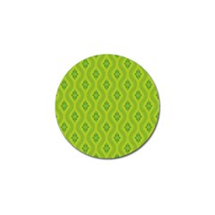 Decorative Green Pattern Background  Golf Ball Marker (4 Pack) by TastefulDesigns