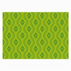 Decorative Green Pattern Background  Large Glasses Cloth by TastefulDesigns