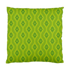Decorative Green Pattern Background  Standard Cushion Case (two Sides) by TastefulDesigns