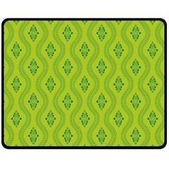 Decorative Green Pattern Background  Fleece Blanket (medium)  by TastefulDesigns