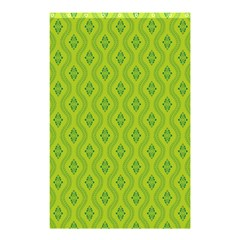Decorative Green Pattern Background  Shower Curtain 48  X 72  (small)  by TastefulDesigns