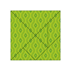 Decorative Green Pattern Background  Acrylic Tangram Puzzle (4  X 4 )