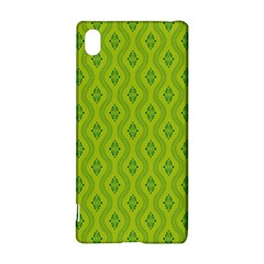 Decorative Green Pattern Background  Sony Xperia Z3+ by TastefulDesigns