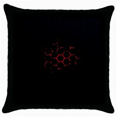 Abstract Pattern Honeycomb Throw Pillow Case (black) by BangZart